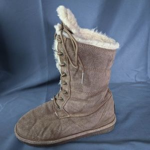 Bearpaw Womens Boots Size 7 Karen Suede Leather